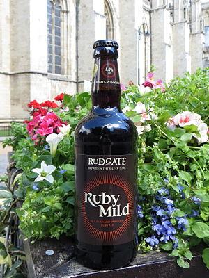 Mild ale - Image: Rud Gate Ruby Mild&York Minster