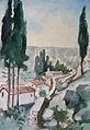 Rudolf Heinisch, Landschaftsskizze - Toskana, 1936.JPG