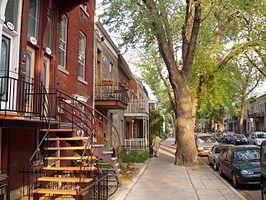 Straatbeeld, Plateau Mont-Royal
