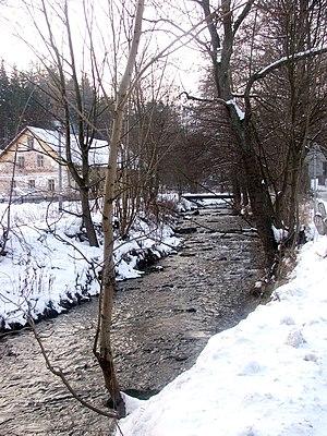 Krupá (Morava) - The Krupá in the town of Staré Město