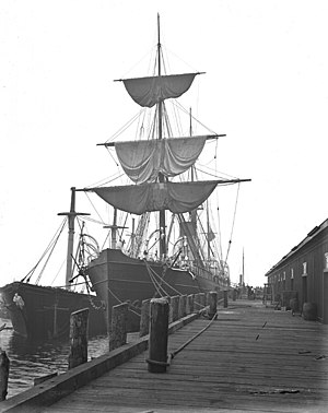 SS Parthia (1870) - The SS Parthia in Vancouver while in service with the Canadian Pacific Railway Company.