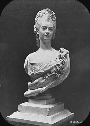 Marie Adélaïde of Savoy -  Bust of Marie Adelaide de Bourgogne by Coysevox. Brooklyn Museum Archives, Goodyear Archival Collection
