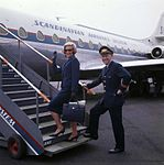 SAS Caravelle, pilot and flight attendant.jpg