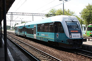 Arriva RP - An Arriva SA 134 multiple unit at Toruń station