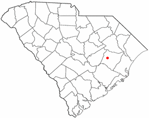Kingstree, South Carolina - Image: SC Map doton Kingstree