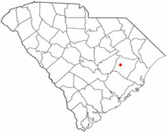 Kingstree, South Carolina - Image: SC Map doton Kingstree