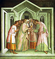 SG NT Judas receiving payment for betraying Jesus, Lippo Memmi.JPG