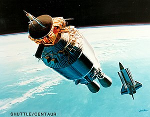 Centaur (rocket stage) - Illustration of Shuttle-Centaur with Ulysses