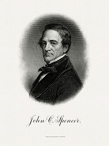 SPENCER, John C-Treasury (BEP engraved portrait)