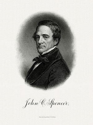 John Canfield Spencer - Bureau of Engraving and Printing portrait of Spencer as Secretary of the Treasury.