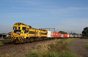Southern Shorthaul Railroad - Ex Westrail J class locomotives in Newport in May 2008
