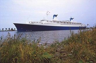 SS France (1961) - The SS Norway at Velsen, the Netherlands