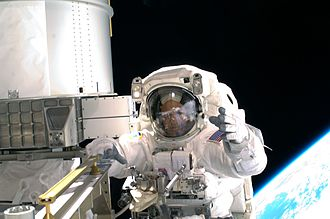 Richard R. Arnold - STS-119 Mission Specialist Arnold during his first spacewalk.