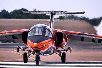 Saab 105 - Saab 105 taxiing at the 2011 Royal International Air Tattoo (RIAT)