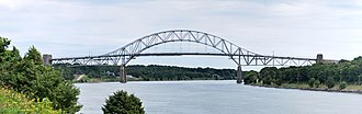 Bourne, Massachusetts - The Sagamore Bridge over the Cape Cod Canal