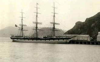 Port Chalmers - Euterpe (later Star of India) at Port Chalmers.