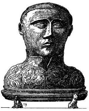 Winwaloe - Portrait of a silver bust of Saint Guénolé, 1901