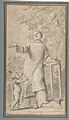 Saint Lawrence Standing and Holding the Grill, Instrument of His Martyrdom MET DP809769.jpg