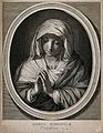 Saint Mary (the Blessed Virgin). Line engraving by F. de Poi Wellcome V0033660.jpg