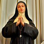 Saint Mary Catholic Church (Philothea, Ohio) - interior, statue of Saint Bernadette.jpg