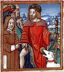 San Rocco in una miniatura medioevale