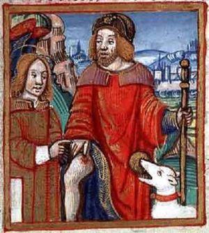Patron saints of ailments, illness, and dangers - Saint Roch is invoked against the bubonic plague.