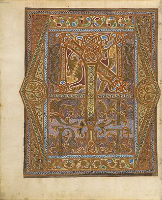 Sacramentary of Henry II - Initial page fol. 12v: Incipit