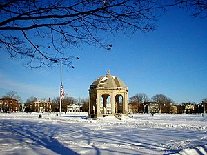 Timeline of Salem, Massachusetts - Salem Common during the winter