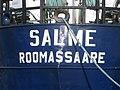 Salme Roomassaare Name on the Stern of the Ship Tallinn 25 September 2013.JPG