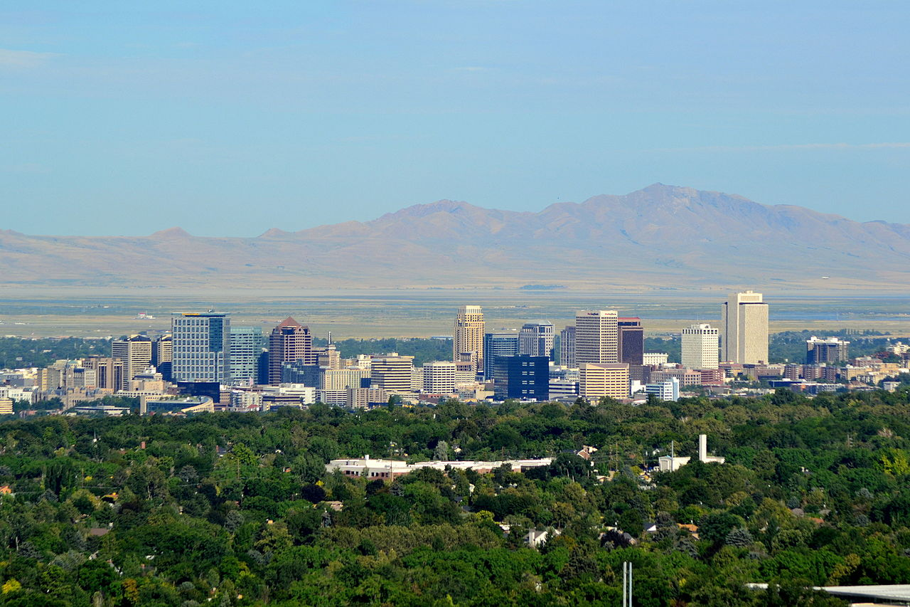 File salt lake city skyline august wikimedia - Interior solutions salt lake city ...