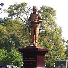 The statue of Sam Maneckshaw lies on Sir Maneckji Mehta Road near the headquarters of the Southern Command and is golden in colour