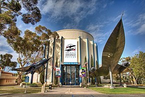 Picture of the San Diego Air & Space Museum's entrance.