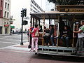 San Francisco cable car no. 24 at Powell & Ellis Sts.JPG