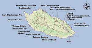 San Nicolas Island - U.S. Navy facilities on San Nicolas Island, 2009.