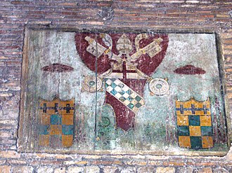 Santa Balbina - Image: San Saba santa Balbina stemma di Innocenzo VIII nel portico 1000910