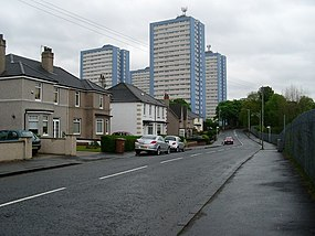 Sandyhills Flats from Sandyhills Road - geograph.org.uk - 1279025.jpg