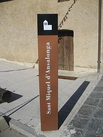 Català: Cartell de l'església de Sant Miquel d...