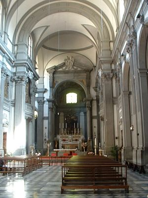 Santa Felicita, Florence - Interior of the church.