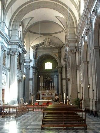 Santa Felicita, Florence - Interior of the church.
