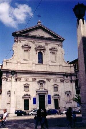 Santa Maria in Traspontina - Façade seen from Via della Conciliazione.