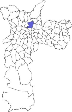 Localização do distrito de Santana no municípi...