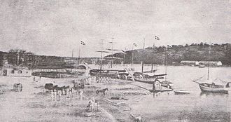Battle of Tortuguero - The three Dominican schooners later on in Santo Domingo circa 1850.