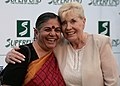 Save The World Awards 2009 show02 - Vandana Shiva and Betty Williams.jpg
