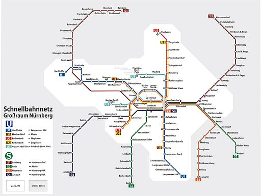 Schnellbahnnetz nürnberg