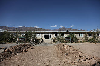 Maidan Wardak Province - A school being renovated in the Jalrez district of Wardak province in 2009