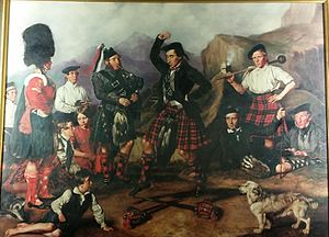 Scottish sword dances - The Sword Dance, 93rd were camped at Chobham in England, 1853