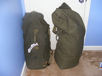 Duffel bag - US military-issued duffel bags