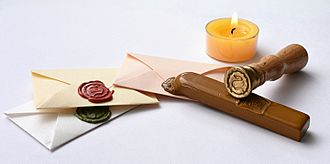 Sealing wax - Sealed letters and means of application