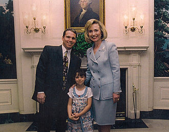 Sean Hamilton - Hamilton, along with his daughter Taylor joining the First Lady in the White House in 1996.