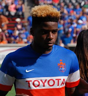 Sean Okoli - Okoli playing for FC Cincinnati in 2016